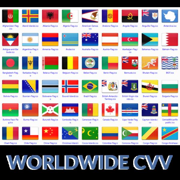 international CC CVV mix worldwide country cc